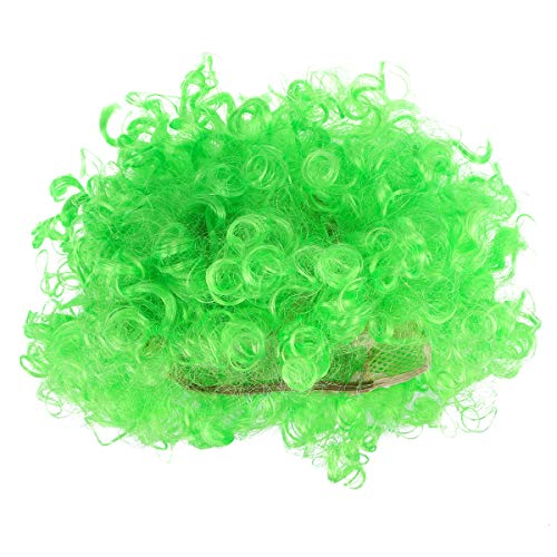 BESTOYARD 2pcs Fluffy Afro Clown Wig Funny Party Wigs Performance Props for Masquerade Carnival Cosplay (Green) -