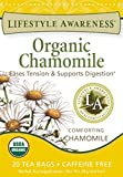 Lifestyle Awareness Teas, Caffeine Free Organic Chamomile Tea, 20 Count (Pack of 6)