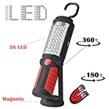 Vinmax LED Work Light Rechargeable-Cordless COB LED Flashlight Work Light Lamp Magnetic Clip Support Stand with Swivel Hook High Brightness for Camping Household Workshop Car Repair Emergency