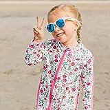 SwimZip Girls Long Sleeve Sunsuit Romper - UPF