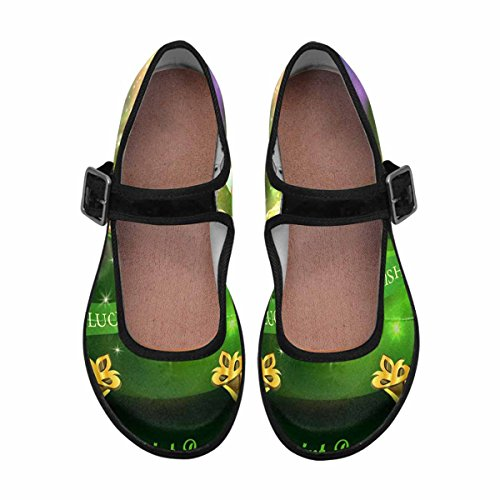 Interestprint Womens Comfort Mary Jane Flats Casual Scarpe Da Passeggio Multi 11