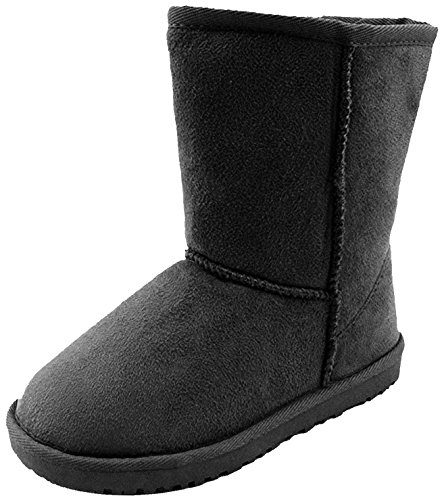 [Winter Boots (2 M US Little Kid, 08-BLACK)] (Boots Shoes For Kids)