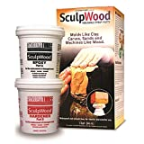 System Three 1-Quart SculpWood Moldable Epoxy Putty, 90301