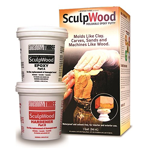 - System Three 1-Quart SculpWood Moldable Epoxy Putty, 90301