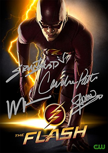 The Flash Tv Series Print   Cast Grant Gustin Wentworth Miller Candice Patton Stephen Amell  11 7  X 8 3