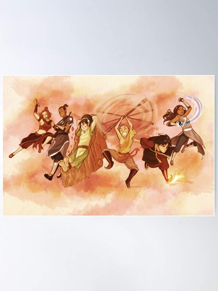 Book Last The Airbender Avatar Poster I S Poster Gift For Home Decor Wall Art Print Poster