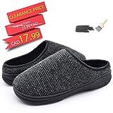 YOUKADA House Slippers for Men Breathable, Felt Sandal with Memory Foam, Anti-Slip Boy