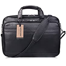 Jack&Chris® Men's PU Leather Briefcase Messenger Bag Laptop Bag, MBYX014
