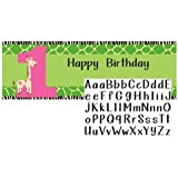 Creative Converting Wild at One Giraffe Giant Party Banner with Customizable Stickers