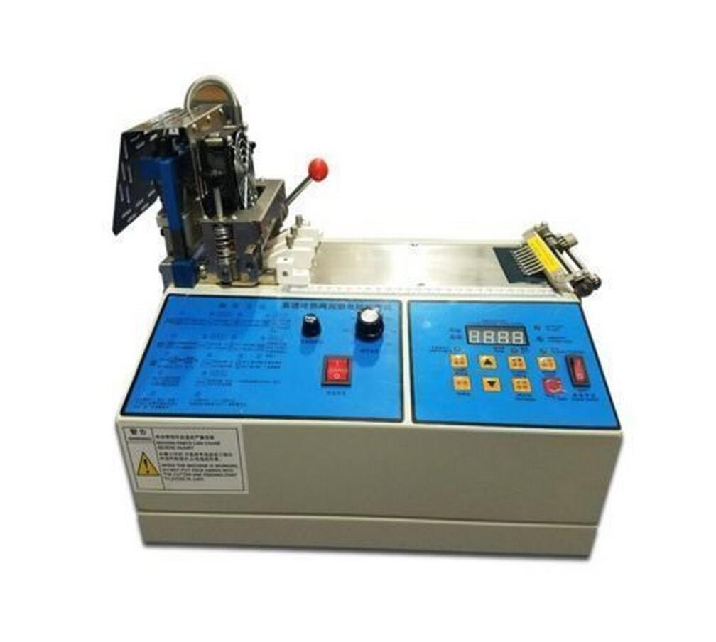 Fully Automatic Cold and Hot Belt Cutting Machine Ribbon Elastic Cutting Machine Cutting Width 100mm (110V)