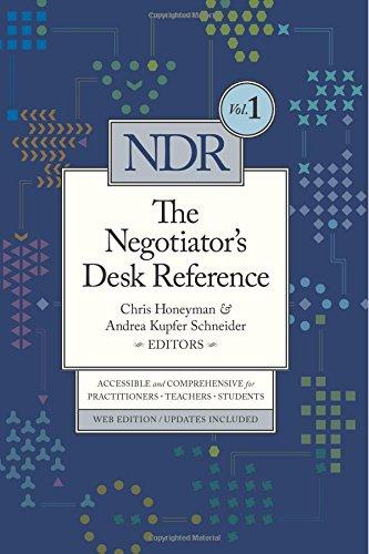Negotiator's Desk Reference (Volume 1) PDF