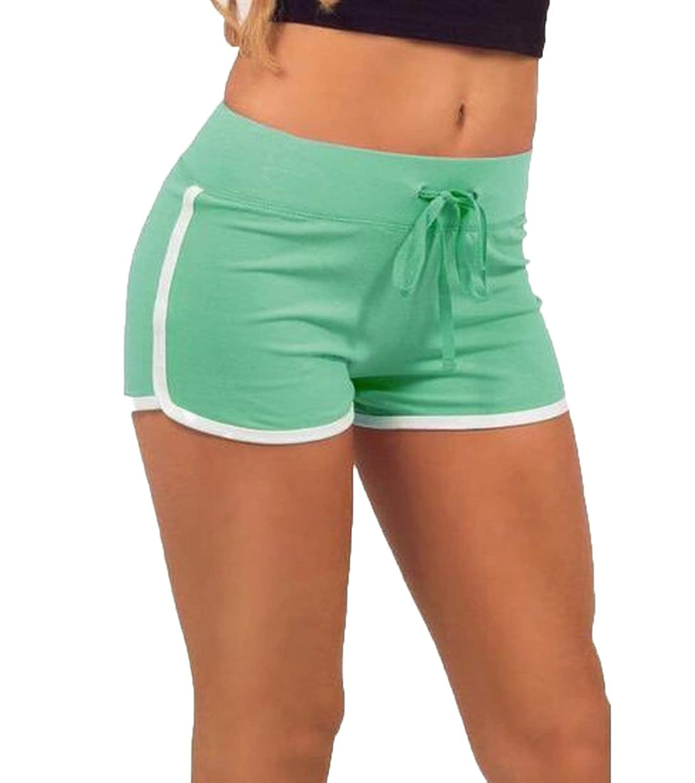 Comfy Women's Skinny Drawstring Plus Size Sports Short Yoga Pants