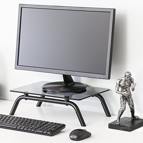 Fitueyes Tempered Glass Computer Monitor Riser Stand 4 7 High 16