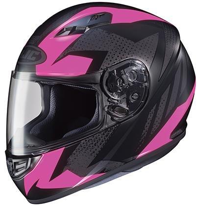 HJC Helmets CS-R3 Unisex-Adult Full Face Treague Motorcycle Helmet (Black/Pink, Medium) (Face 09 Helmet Full)