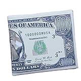 Winhurn Fashion US Dollar Bill Bifold Wallet PU Leather Purse Credit Card Holder (Style D)