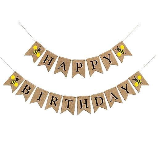 1 unid Garland Feliz Cumpleaños Cartas Garland Cumpleaños ...