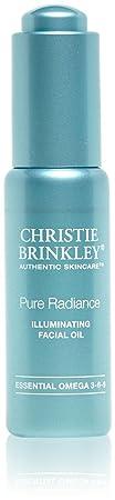 Christie Brinkley Pure Radiance Illuminating Facial Oil – Restorative Facial Oil Treatment 0.9 Ounces