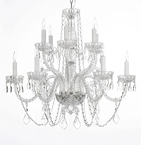 (Asfour Crystal Chandelier Lighting Chandeliers 12 Lights / 2 Tiers H26