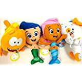 Bubble Guppies Gil, Molly, Mr Grouper and Bubble Puppy 4 Plush Doll Set 8""