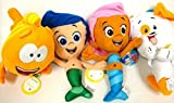 Bubble Guppies Gil, Molly, and Bubble Puppy and Mr Grouper Medium Plush Doll Set 10''