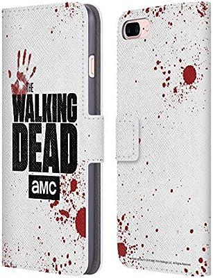 Amazon com: Official AMC The Walking Dead White Logo Leather