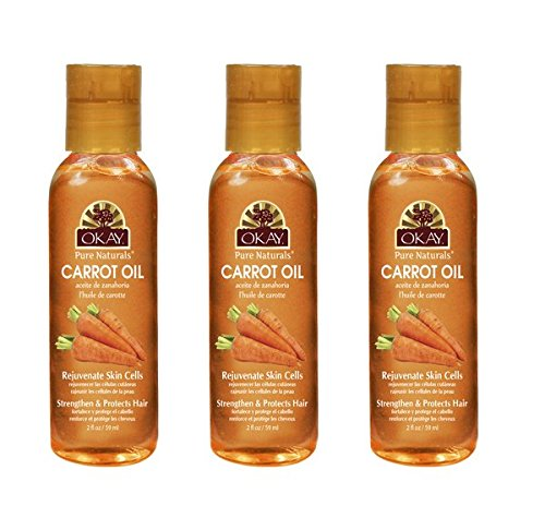 (PACK OF 3) OKAY PURE NATURALS OIL FOR SKIN & HAIR 2OZ - CARROT
