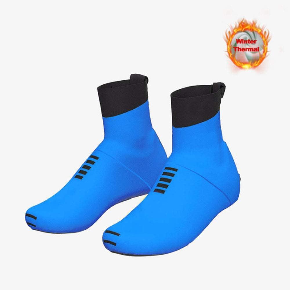 XXL NSDWVW Couvre-chaussures de v/élo dhiver en molleton thermique Couvre-chaussures de v/élo de VTT pour homme de sport couvre-chaussures de v/élo 5