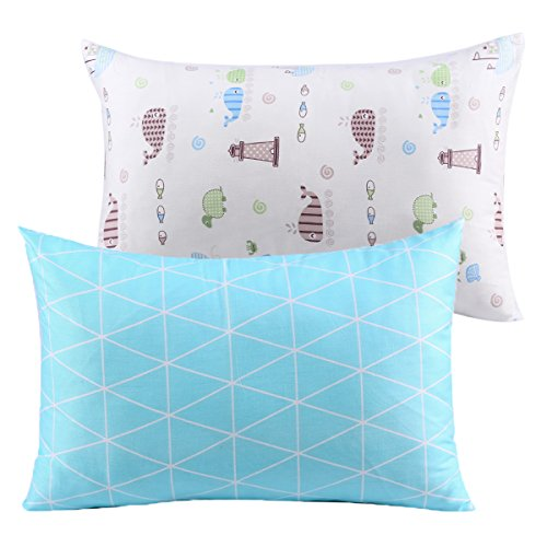 Kids Toddler Pillowcases UOMNY 2 Pack 100% Cotton Pillow Cover Cases 13 x 18