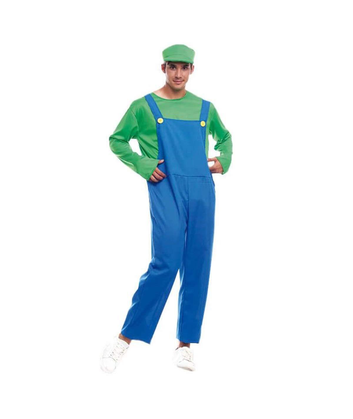 Partylandia Disfraz de Luigi para Hombre Carnaval Cosplay Cómodo ...