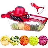 Bokdy Vegetable and Fruit Chopper Vegetable and Fruit 5 IN 1Multifunction Vegetable Slicer 5 Stainless Steel Blades