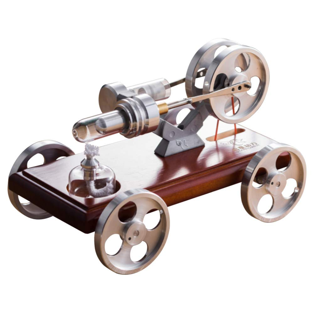 At27clekca Low Temperature Stirling Engine Car Motor Model Power Physical Educational Toy Electricity Generator for QX-XC-01