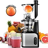 Slow Masticating Juicer Extractor, CUSIBOX 83mm (3.27inch) Wide Chute Cold Press Juicer