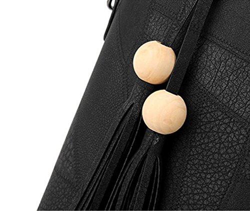 FZHLY Nuovo Modo Delle Signore Di Grande Capienza Messenger Bag Borsa A Tracolla,SkinPowder