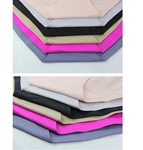POKWAI De La Mujer Ropa Interior Clásica Escritos Sin Costura En La Cintura Flocado Colchón Cómodo Y Transpirable Salvaje Súper Cómodo 3 Packs A5