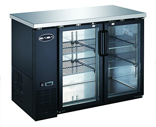 Heavy Duty Commercial Two Glass Door Back Bar Refrigerator (24