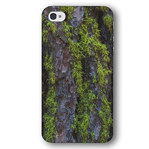 Tree Bark with Green Moss Apple iPhone 4 / 4S Phone Case
