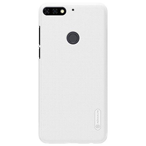 NAVT Calidad cáscara de la Funda case cover protectora de alta dura para Huawei Honor 7C smartphone +1* Protector de pantalla (dorado) blanco