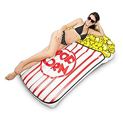 BigMouth Inc. Giant Popcorn Pool Float, Funny Inflatable Vinyl Summer Pool or Beach Toy, Patch Kit Included: Toys & Games