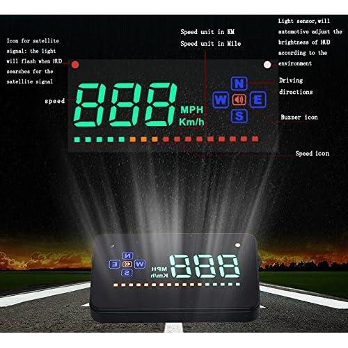 YICOTA GPS universel HUD Head Up Display Focus sur la vitesse de survitesse de l'alarme pour toutes les voitures et camions (A2) best