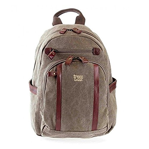 new-troop-london-trp-0255-mini-size-backpack-unisex-premium-canvas-bag-brown