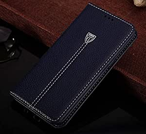 Samsung galaxy S6 edge plus card bag case stand clamshell leather cover Screen Protector SX89 blue