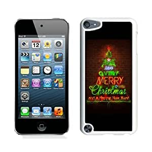 Hot Sell Design Merry Christmas happy new year White iPod Touch 5 Case 2