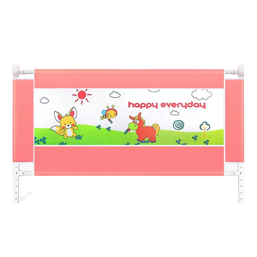 【GINGER掲載商品】 子供の幼児のフェンス、垂直持ち上げベッドサイドの安全フェンス、赤ちゃんの粉々に抵抗するバッフル、大きなベッドガードレール pink B07JGKKDSM、赤ちゃんの子供ベッドのフェンス、6スピード調節可能、86センチメートル 180 180*86cm*86cm pink B07JGKKDSM, 日置町:47291ad2 --- a0267596.xsph.ru