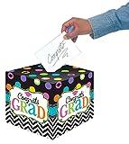 Amscan Dream Big Graduation Party Card Holder Box, Paper Cardboard, 12'' .