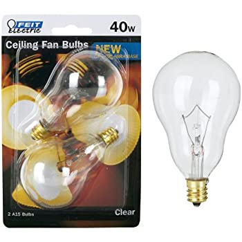 Feit ceiling fan bulb 40w 120v clear candelabra e12 base bp40a15ccl feit ceiling fan bulb 40w 120v clear candelabra e12 base bp40a15cclcf aloadofball Choice Image