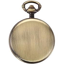 AMPM24 Skeleton Men's Steam Train Copper Dangle Quartz Pocket Watch WPK100