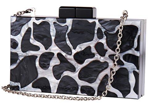 Longcharm Acrylic Clutch Purse Cute Box Handbags with Strap Perspex Bag for Women