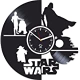 The Force Awakens, Kovides, Vinyl Record Wall Clock, Gift For Children, Star Wars, Yoda, Han Solo, Best Gift For Brother, Birthday Gift, Movie, Silent, Wall Clock Modern, Gift For Man