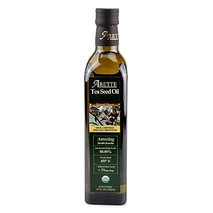 Aceite de semillas de té orgánico Arette – Aceite de cocina ...