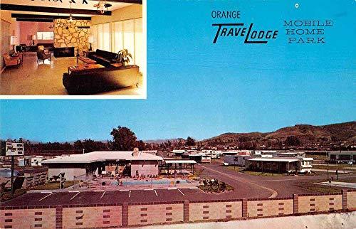 Orange California Travelodge Mobile Trailer Park Vintage Postcard - California Mobile